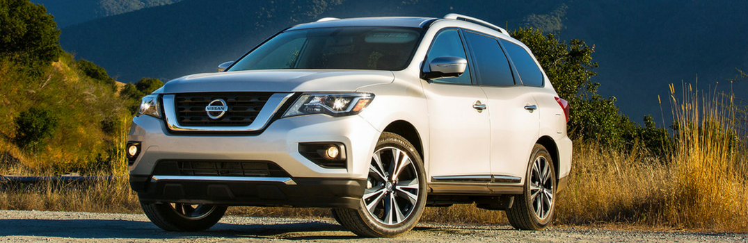 2018 Nissan Pathfinder driving on terrain