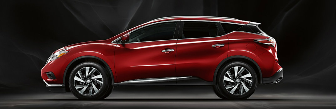2018 Nissan Murano red on black background