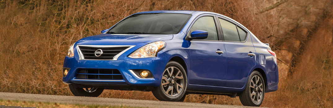 2018 Nissan Versa driving down highway