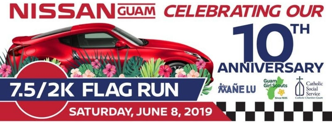 Nissan Guam 10th Annual Flag Run Header image