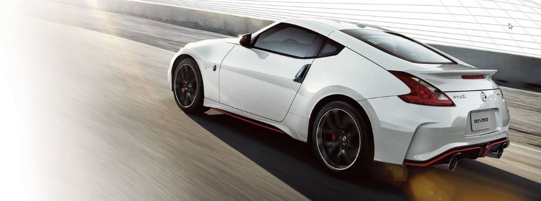 Exterior view of a white 2020 Nissan 370Z