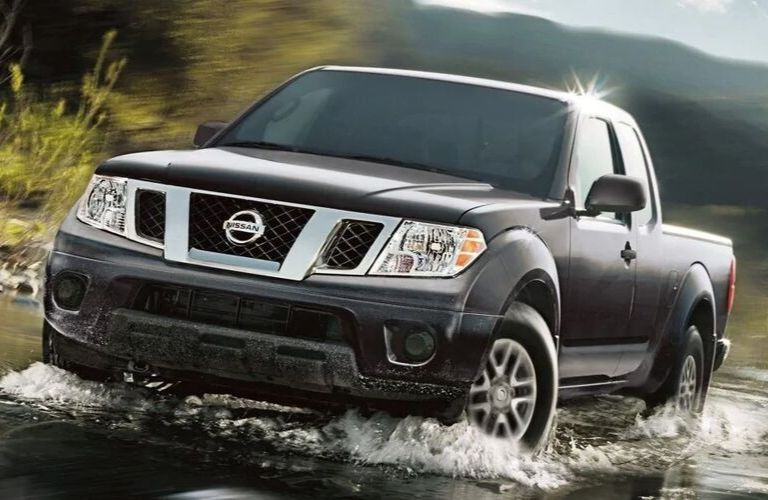 Exterior view of a black 2019 Nissan Frontier