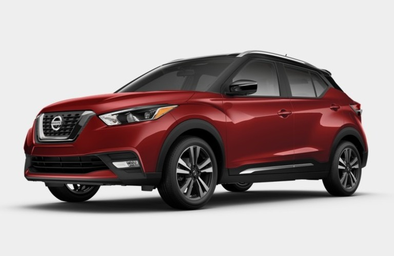 2019 Nissan Kicks Deep Cayenne Red Metallic and Super Black Exterior Color Option