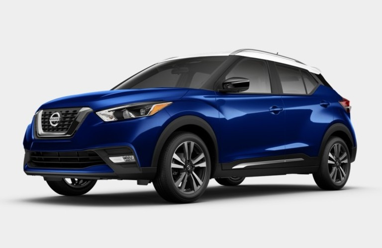 2019 Nissan Kicks Deep Blue Pearl and Fresh Powder Exterior Color Option