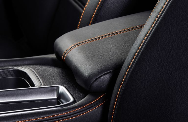 Closeup view of the stitching inside a 2020 Nissan Sentra