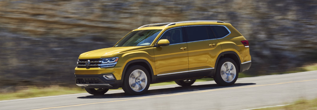 How many trim levels are offered on the 2018 Volkswagen Atlas?