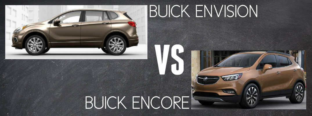 2017 buick envision vs 2017 buick encore. Black Bedroom Furniture Sets. Home Design Ideas