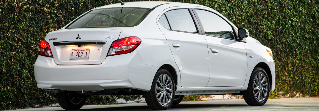 2017 Mitsubishi Mirage G4 White side view