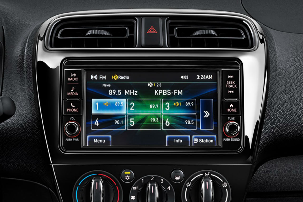 Color Touchscreen Of The 2018 Mitsubishi Mirage G4