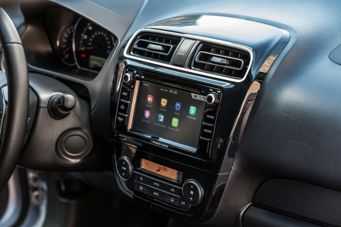 Color touchscreen of the 2018 Mitsubishi Mirage