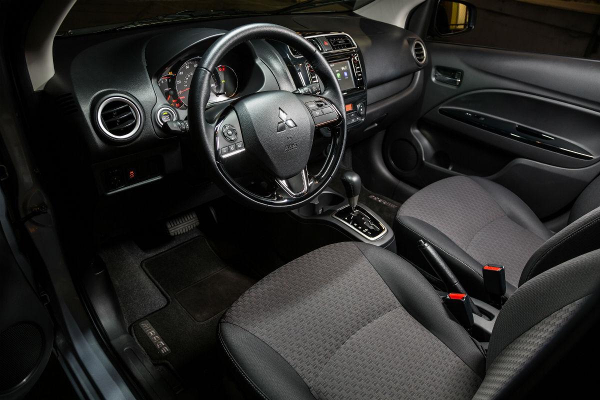 2018 Mitsubishi Mirage driver cockpit