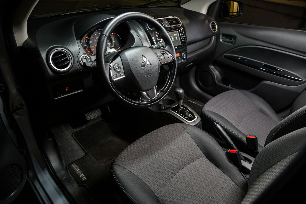 2018 Mitsubishi Mirage's driver's cockpit