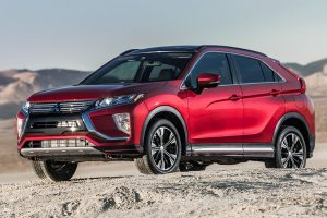 2018 Mitsubishi Eclipse Cross in Red Diamond in the desert