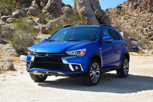 2018 Mitsubishi Outlander Sport parked in a mountainous desert