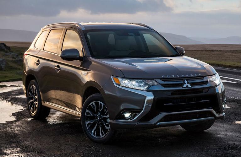 2018 Mitsubishi Outlander PHEV parked in mud