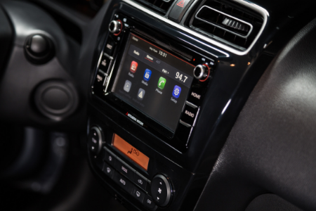 infotainment system of 2019 mitsubishi mirage g4
