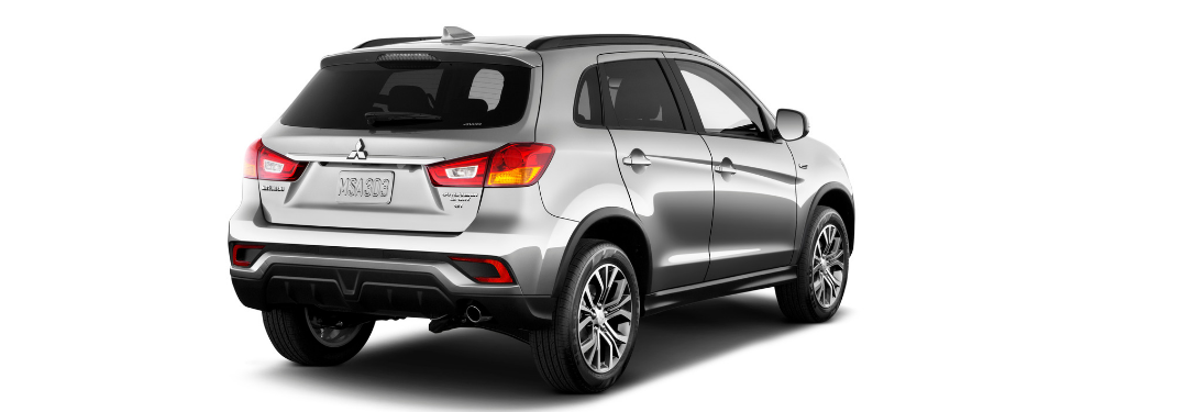 rear and side view of gray 2019 mitsubishi outlander sport