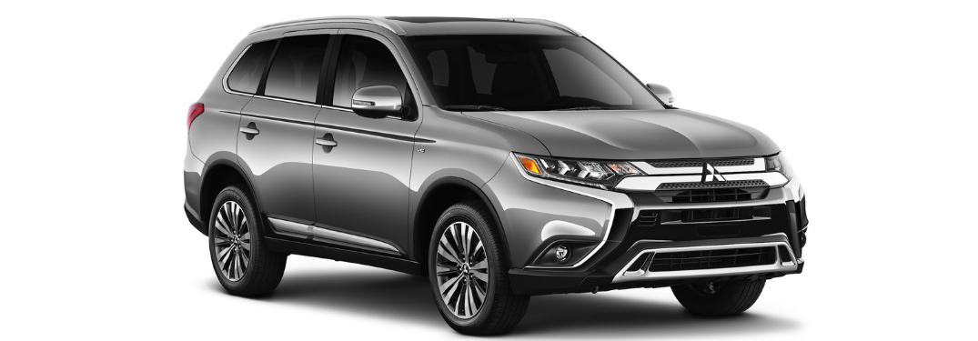 front and side view of gray 2019 mitsubishi outlander