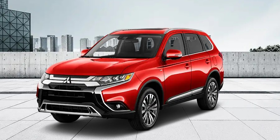 2019 Mitsubishi Outlander in Rally Red metallic color