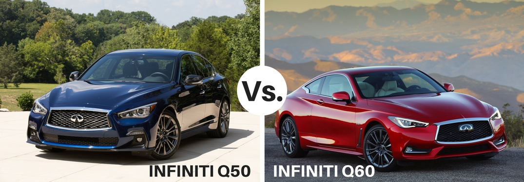 blue infiniti q50 compared to red infiniti q60