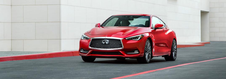 2018 INFINITI Q60 front exterior red