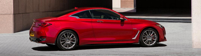2018 INFINITI Q60 red exterior side