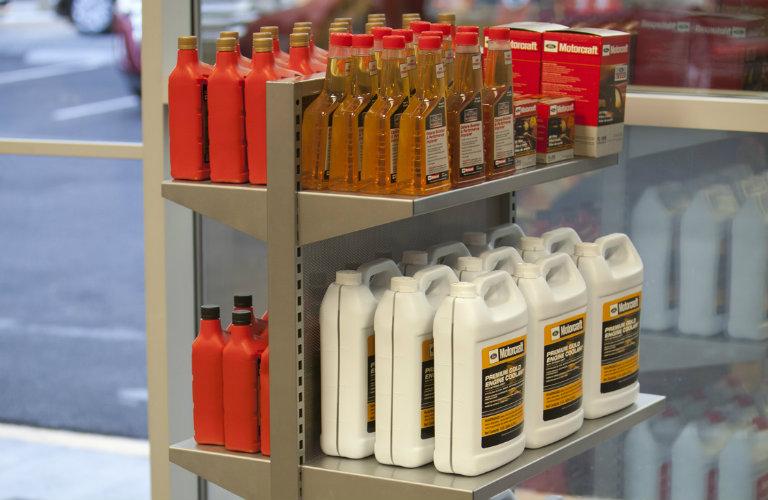 shelves of coolant