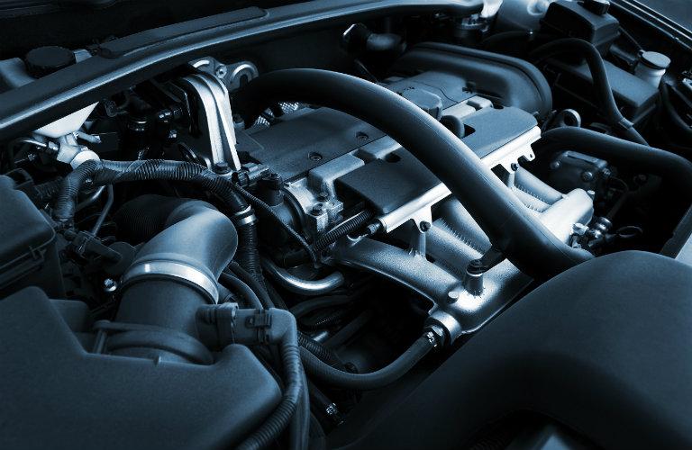 car engine under hood