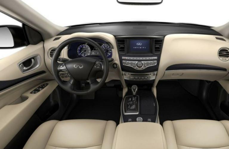 2019 INFINITI QX60 dash and steering wheel