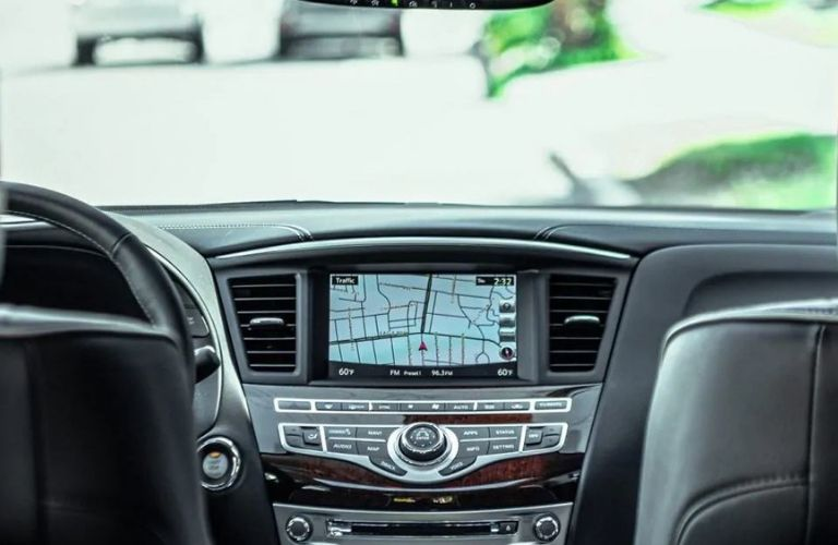 Interior view of the touchscreen display inside a 2020 INFINITI QX60