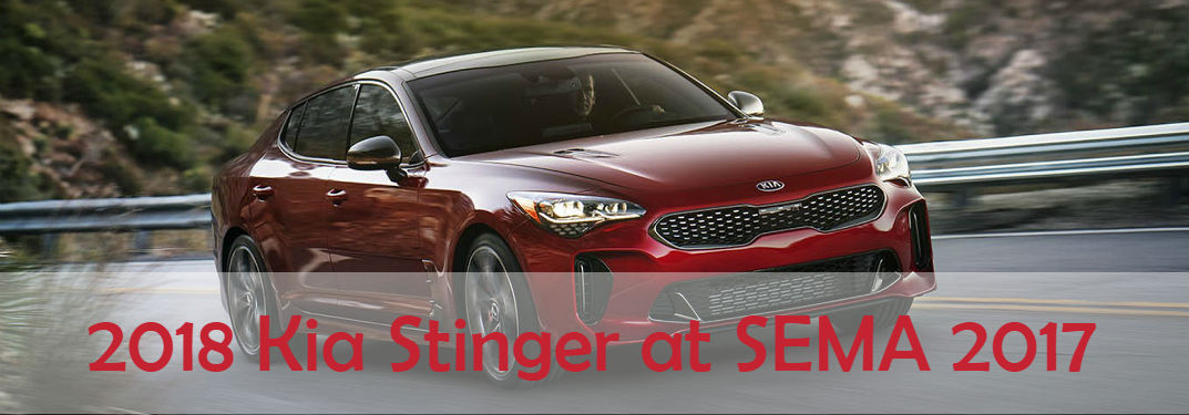 2018 Kia Stinger at SEMA Show 2017