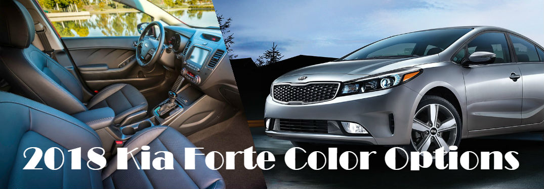 2018 Kia Forte Exterior and Interior Color Options