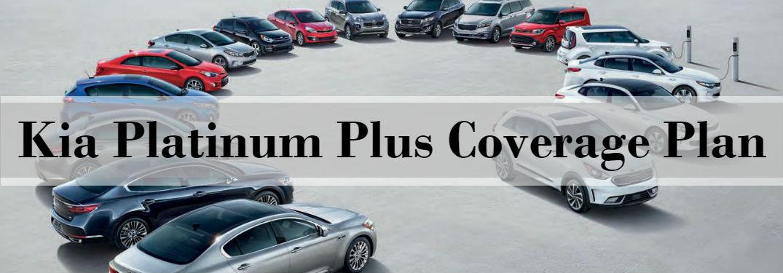 Kia Platinum Plus Coverage Plan on image of new Kia lineup