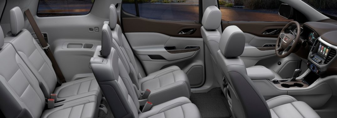 2018 GMC Acadia interior dimensions