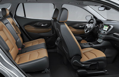 2019 GMC Terrain Interior Front And Rear Cabin Side View