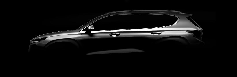 2019 Hyundai Santa Fe Exterior Driver Side Teaser Silhouette