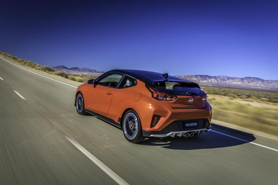 2019 Hyundai Veloster Turbo Exterior Driver Side Rear