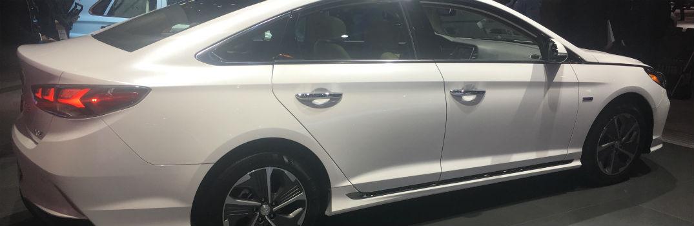 2018 Hyundai Sonata Hybrid Exterior Passenger Side Profile Chicago Auto Show