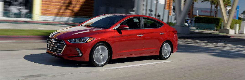 2018 Hyundai Elantra Sedan Exterior Driver Side Front Profile Red