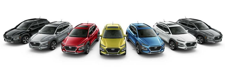 2018 Hyundai Kona Exterior Color Options Lineup