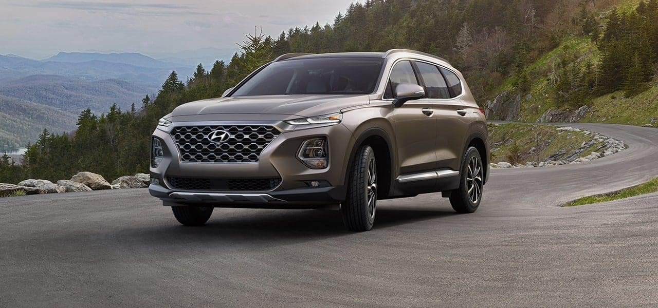 2019 Hyundai Santa Fe Earthy Bronze side view