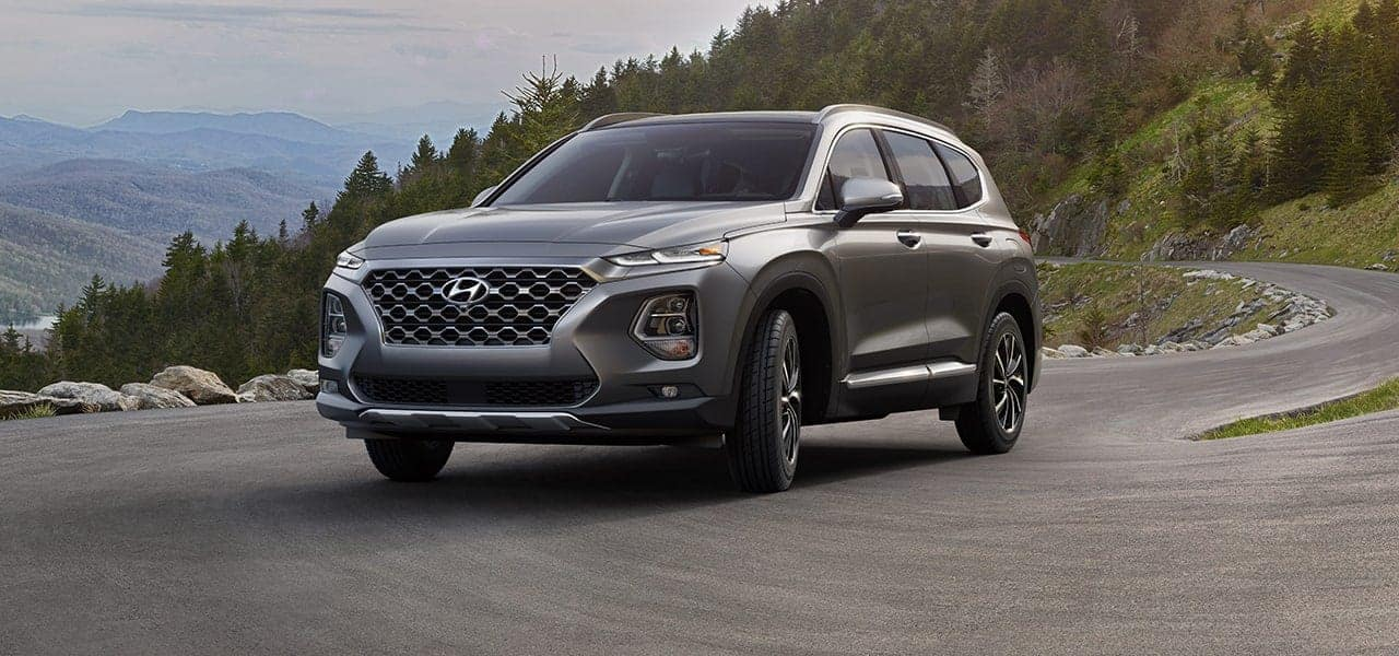 2019 Hyundai Santa Fe Machine Gray side view