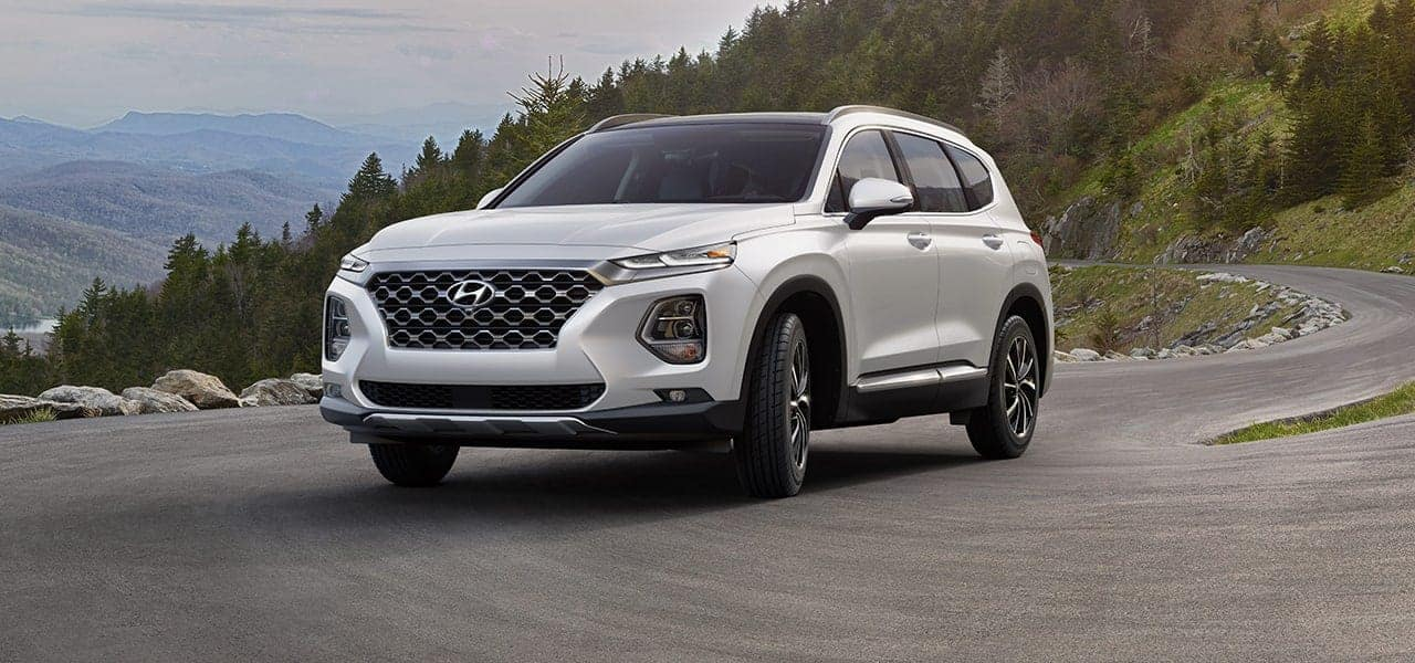 2019 Hyundai Santa Fe Quartz White side view