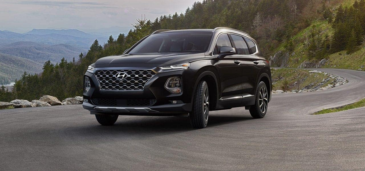 2019 Hyundai Santa Fe Twilight Black side view