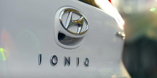 Closeup of 2019 Hyundai Ioniq Electric