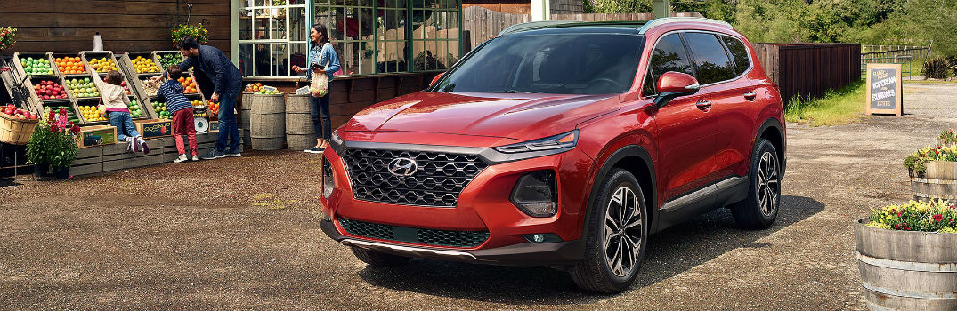 2020 Hyundai Santa Fe Exterior Driver Side Front Profile with Family