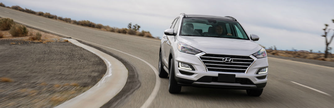 2020 Hyundai Tucson Exterior Passenger Side Front Angle