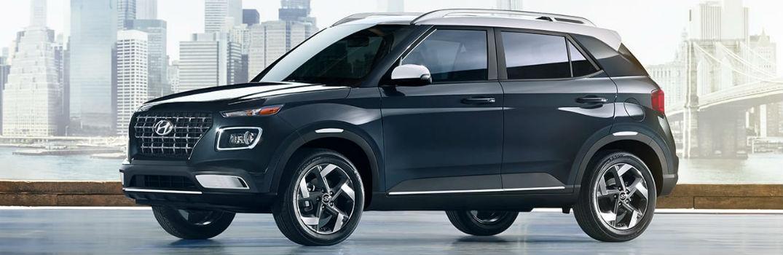 2020 Hyundai Venue Denim Exterior Driver Side Front Profile