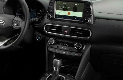 2020 Hyundai Kona interior center console and infotainment center