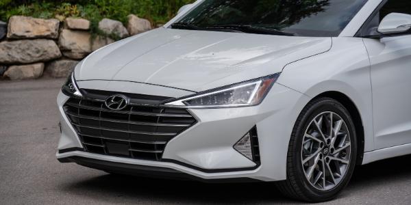 Closeup of 2020 Hyundai Elantra